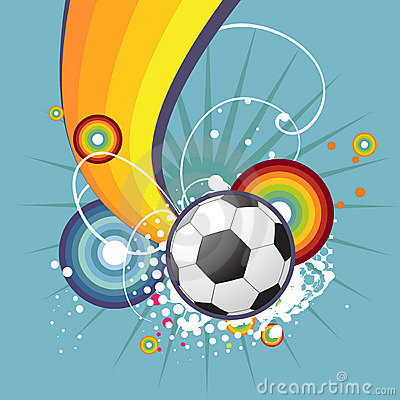 Funky football design