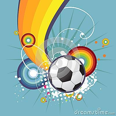 Funky football design
