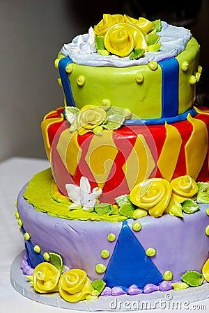 Funky and fun wedding cake