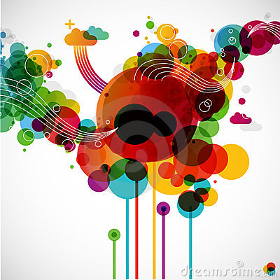 Funky graphic design