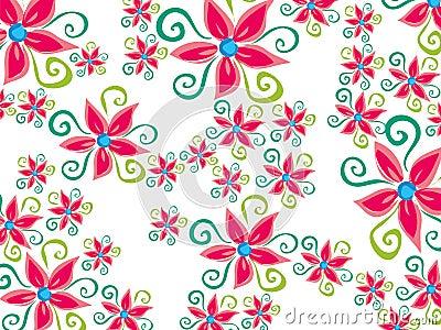 Funky groovy flower daisy