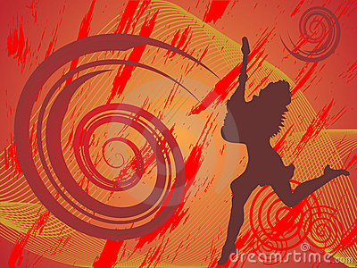 Funky guitar girl