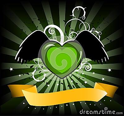 Funky heart banner