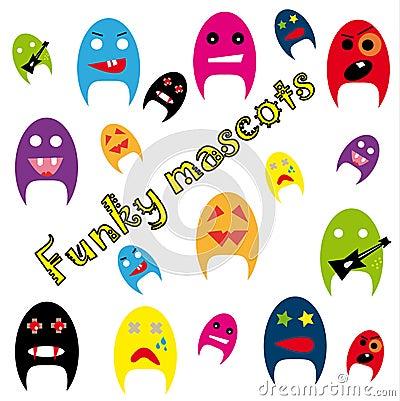 Funky mascots