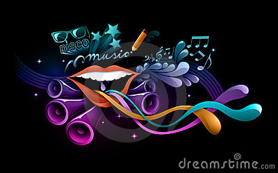 Funky music illustration