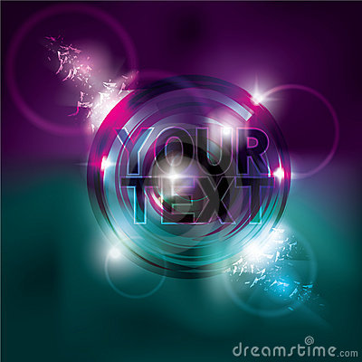 Funky neon circle light effect background