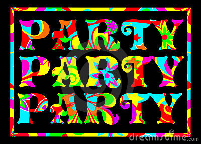 Funky party banner