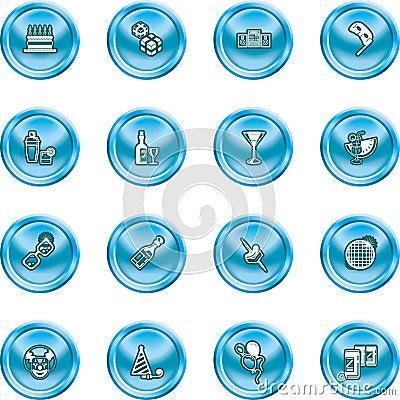 Funky party icon set