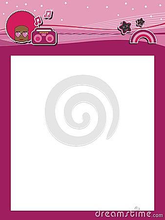 Funky pink header