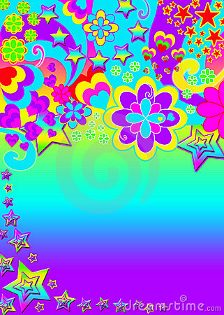 Funky psychedelic banner
