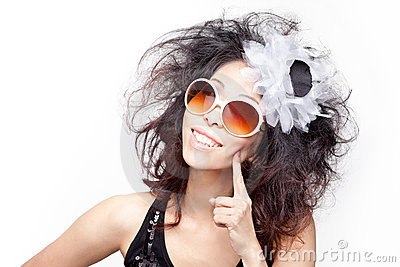 Funky, quirky, eccentric young chinese woman