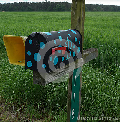Free Funky Rural Mailbox Royalty Free Stock Photo - 50495395