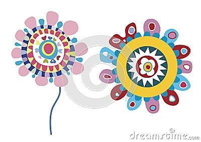 Funky Vector Flowers