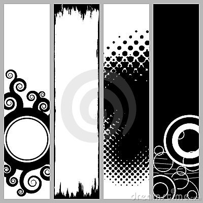 Funky Vertical Banners