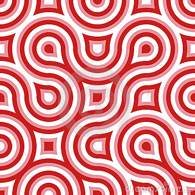 Funky Wild Circle Seamless Pattern Pink White Red