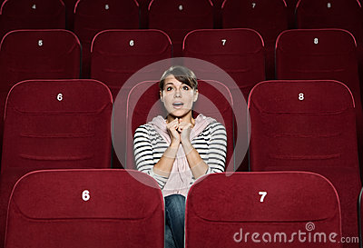 Funky woman at the cinema