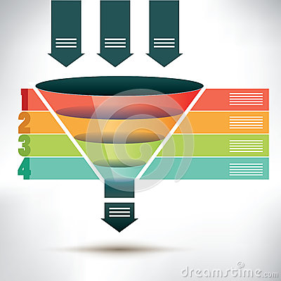 Free Funnel Flow Chart Template Royalty Free Stock Image - 50415346
