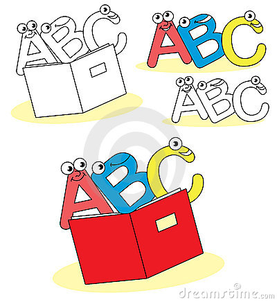 Funny abc cartoon letters