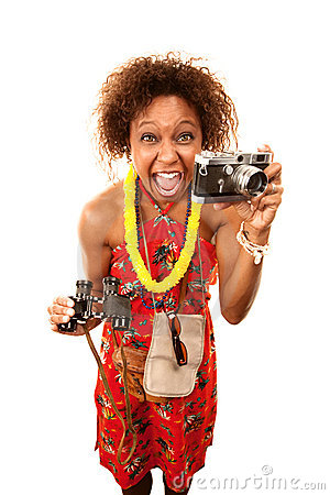 Funny African-American Tourist