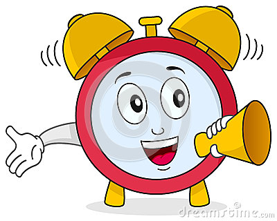 Funny Alarm Clock Character