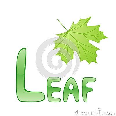 Funny alphabet Leaf