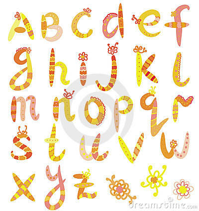 Funny alphabet set