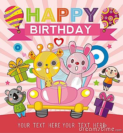 Funny animal birthday card