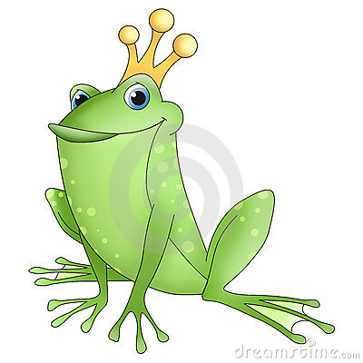 Funny animals frog prince