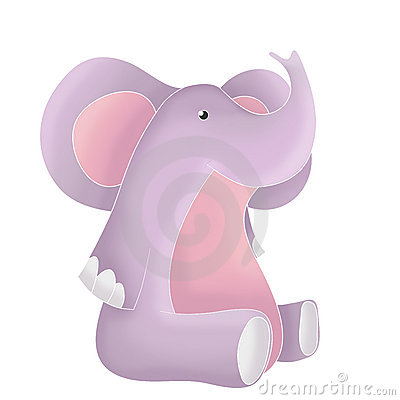 Funny animals - pink elephant