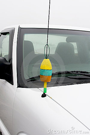 Funny antenna on car