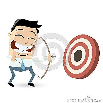 Free Funny Archery Cartoon Man Stock Photography - 67595502