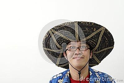 Funny asian man