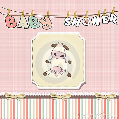 Funny baby girl shower card