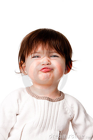 Funny baby toddler expression