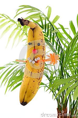 Funny banana plays master mind