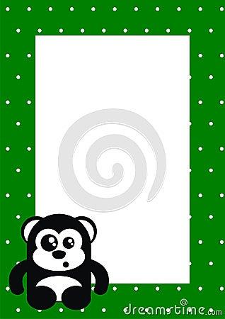 Funny bear photo frame card