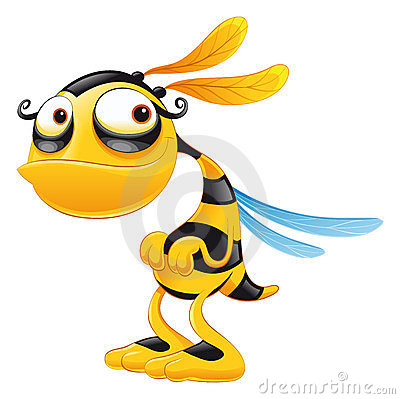 Free Funny Bee Royalty Free Stock Photo - 9070085