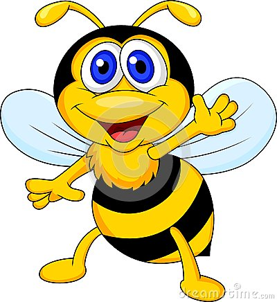 Free Funny Bee Cartoon Waving Stock Photos - 29714773