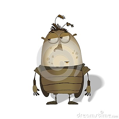 Free Funny Big Bug Cartoon Royalty Free Stock Image - 30294836