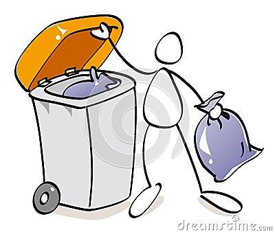 Funny bin of compost