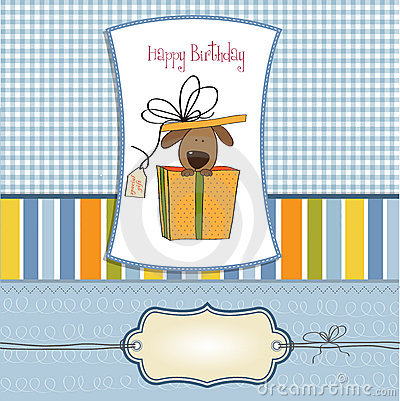 Funny birthday card with dog