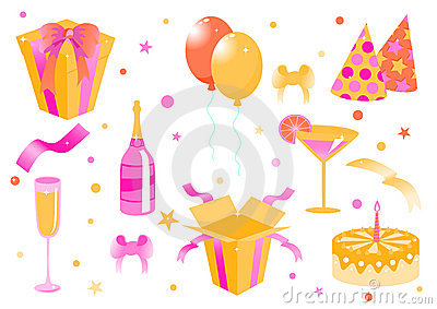 Funny birthday icons