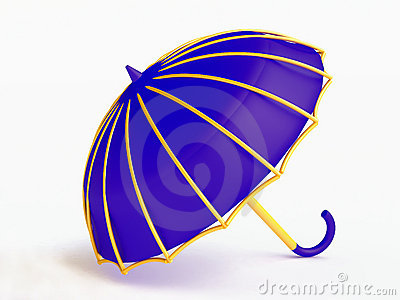 Funny blue umbrella