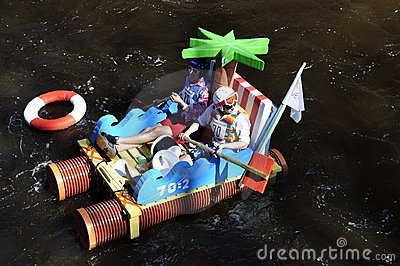 A funny boat race Editorial Photo