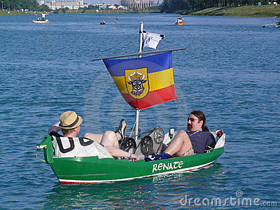Funny boats Editorial Image