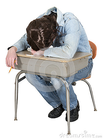 Funny Bored High School, College Student Isolated
