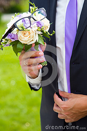 Funny bouquet for groom