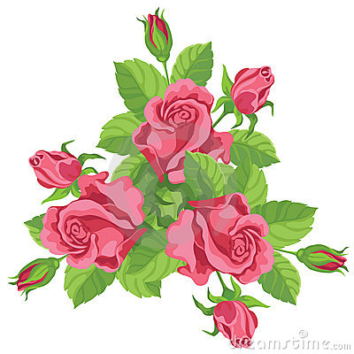 Funny bouquet of roses