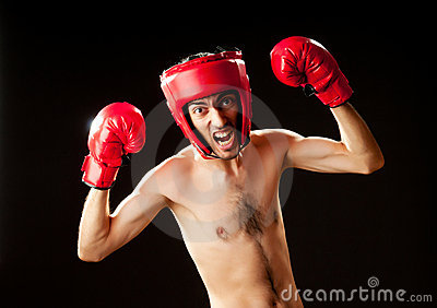 Funny boxer isolated