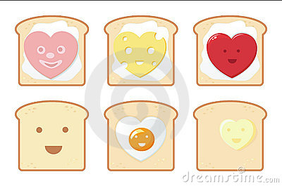 Funny breakfast icons